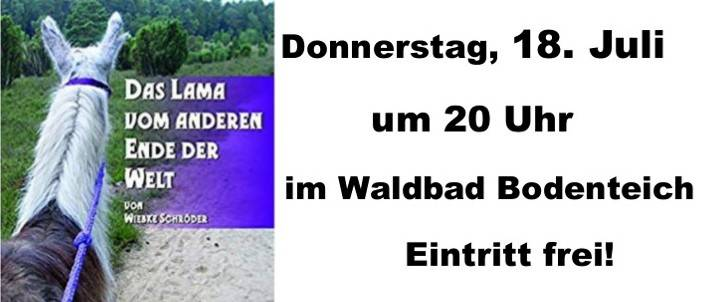 Plakat Buchlesung Waldbad-kl